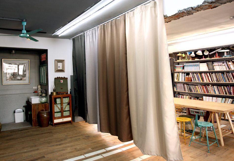 隔間簾 居家辦公 防疫新生活 窗簾設計 工作室設計