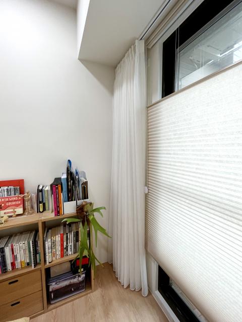 雙層窗簾 窗簾搭配 風琴簾 蜂巢簾 布紗簾