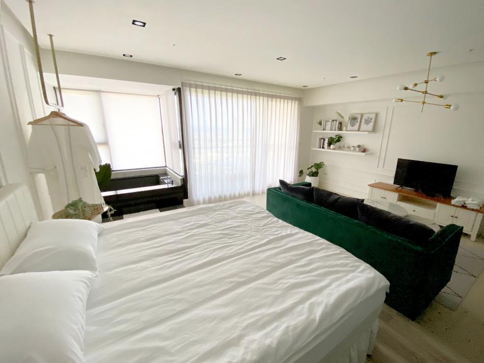 室內採光,現代美式風,窗簾推薦,臥室佈置,室內植物